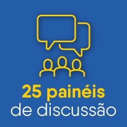 25 painéis de discussão